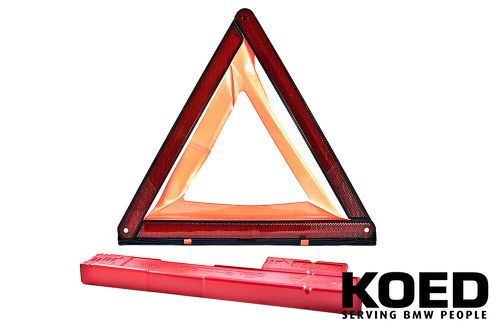 Warning triangle with containe